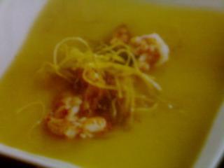 Ricetta Crema di patate con gamberi e porro