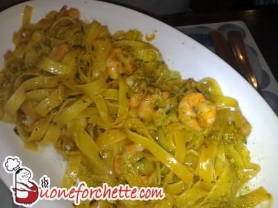 Ricetta Pasta con gamberi e zucchine