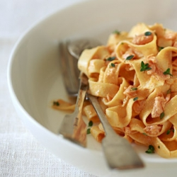 Ricetta Tagliolini al salmone  - variante 2