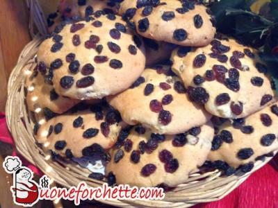 Ricetta Biscotti all'uvetta  - variante 2