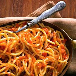 Ricetta Bucatini all'amatriciana  - variante 4